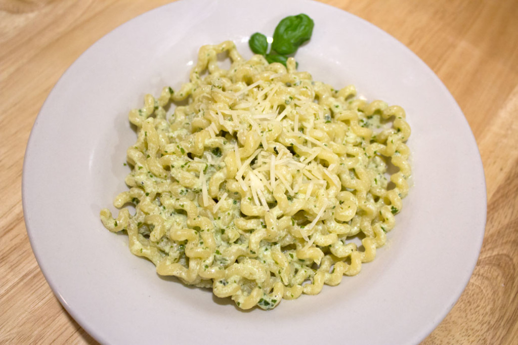 Creamy Pesto Pasta - Plated 1