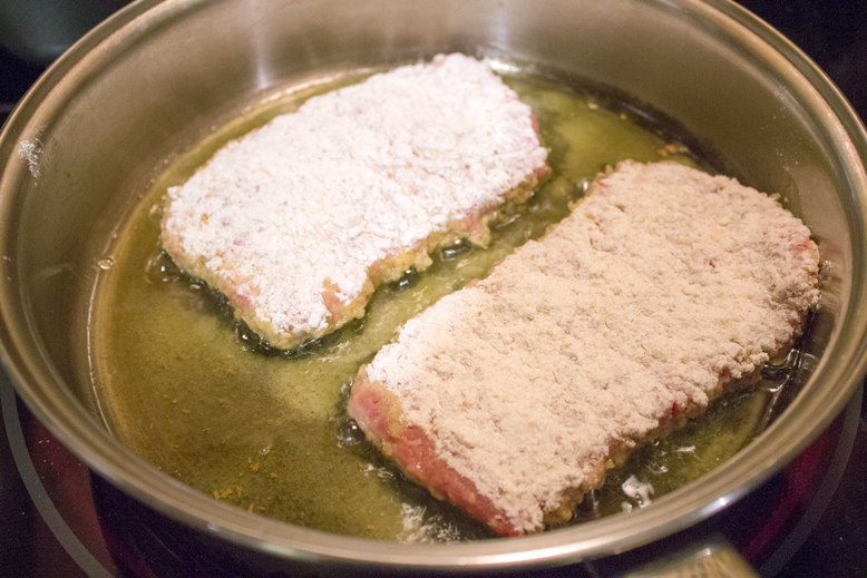 Country Fried Steak - Frying 1