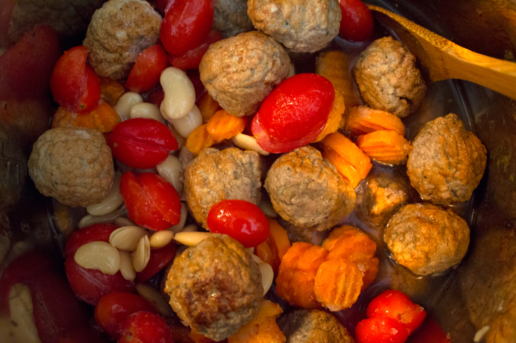 Fragrant Meatball Stew - Slow Cooker Prep