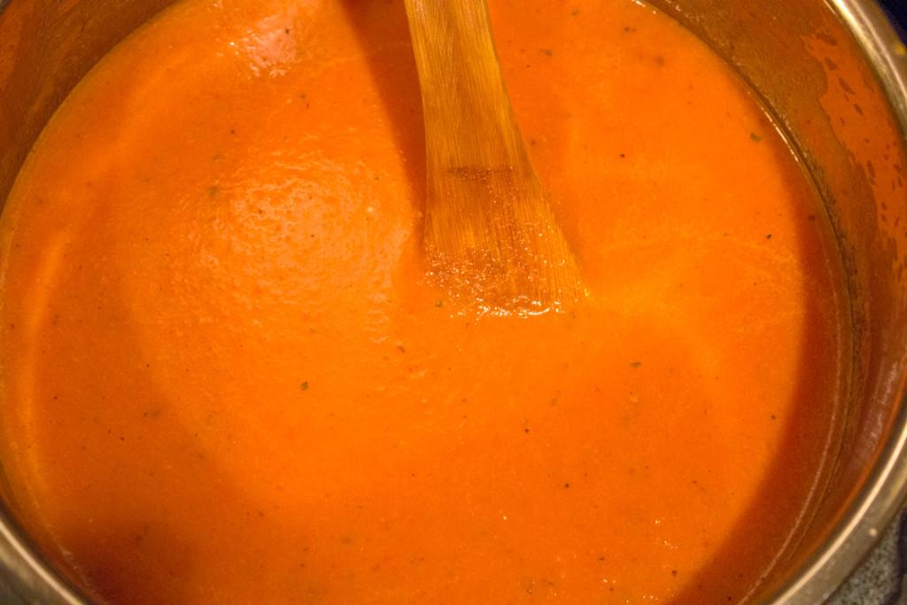 Creamy Tomato Soup - Final Stir
