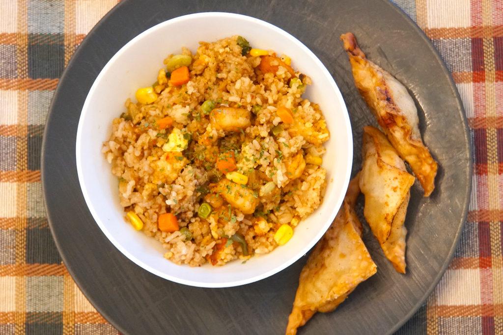 Shrimp Fried Rice-Plated