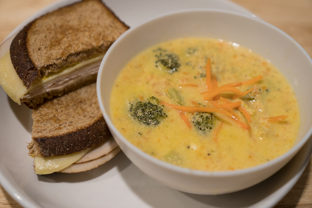 Broccoli Cheddar Soup Plated4